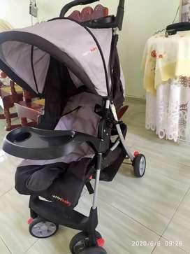 Coche de bebe negro happy baby 2 meses de uso