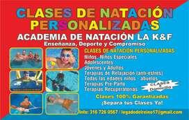 CLASES DE NATACIÓN PERSONALIZADAS.