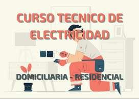 Curso técnico de electricidad del hogar.