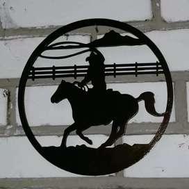 Siluetas de caballos