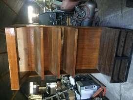 Mostrador alto de madera x 3