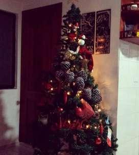 Árbol de navidad de 180cm con adornos