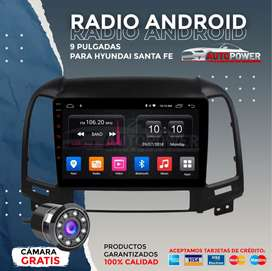 Radio Android 9 pulgadas hyundai Santa Fe 2010 WiFi, GPS, bluetooth