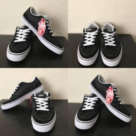 Vans Classic negros, anchos de Skate talla 8.5 para hombre
