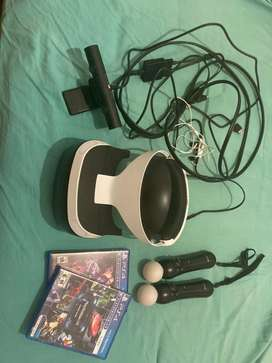 Vendo..Casco Realidad Virtual Sony Ps4 Vr +camara+2Juegos Nuevo Modelo V2!!