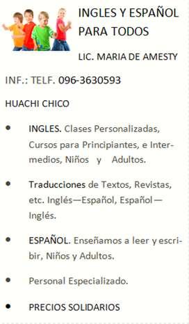 Clases Ingles y Español para todos