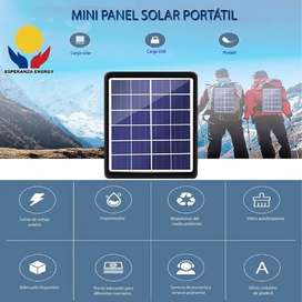 Mini Panel Solar Portatil Para Cargar Celulares y demás