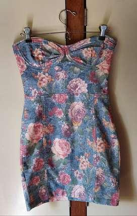 Vestido Vintage de Jean floreado