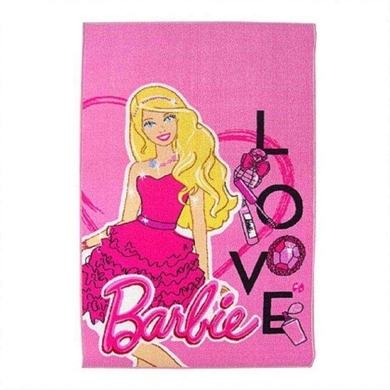 Alfombra Carpeta Infantil Rosa Barbie 42*67 Cm 0