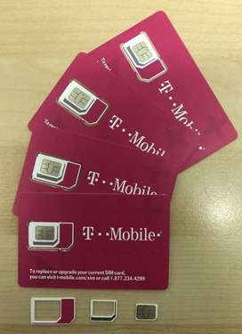 Sim Card Viaje T-Mobile Datos USA 10Gb