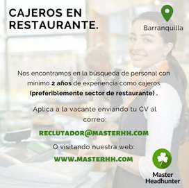 CAJERO DE RESTAURANTE