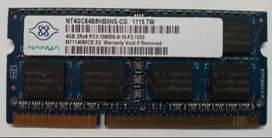 MEMORIA RAM DDR3 4GB 2R(1333) PORTATIL