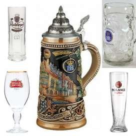 Coleccion de vasos cerveceros