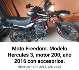 Vendo freedom 200cc 2016.
