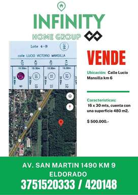 Vende terreno km 6