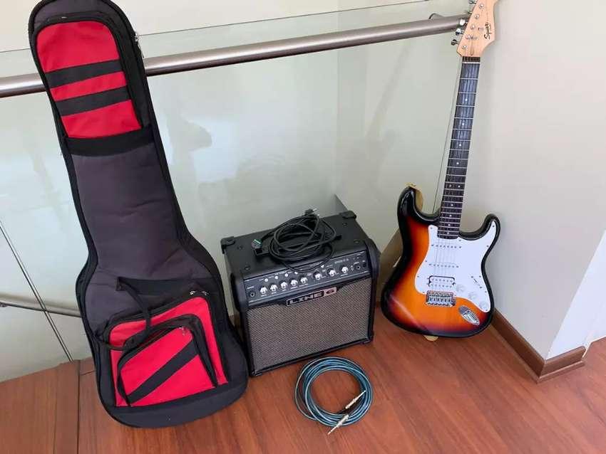 Guitarra eléctrica + Amplificador + Funda 0