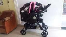 Coche PRIORI para niña con silla para carro adactable al coche dos opciones de manejo