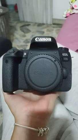 Canon 77d cuerpo