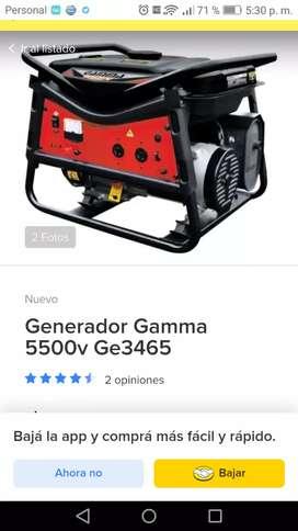 Generador eléctrico gamma 6500 en garantia