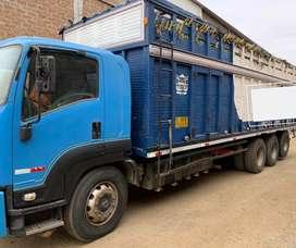 2 Camiones 4 ejes y 3 ejes / carrocería de madera (cajón) y Plataforma metálica / Trato directo con propietario