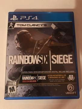 Videojuego fisico tom clancy's rainbow six siege para ps4