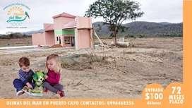 CREDITO DIRECTO - TU LOTE VACACIONAL EN PUERTO CAYO A 15 MINUTOS DE PLAYA LOS FRAILES | SD2