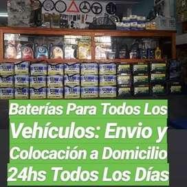Baterías Envío y Colocación 24hs! Baterías MOURA y Alternativas!