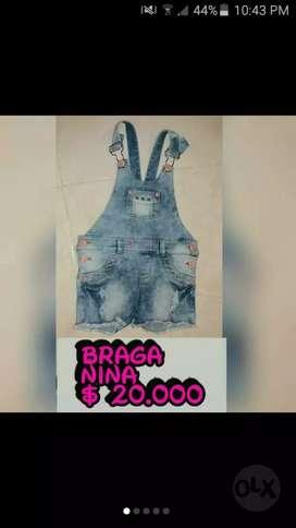 Braga para niña talla 03