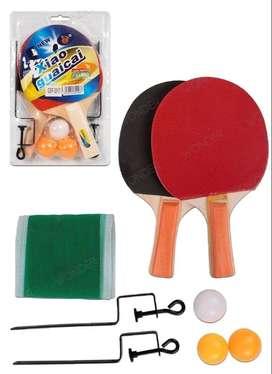 OFERTA-Set Raquetas+malla Pelotas Ping Pong Tenis Mesa