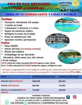 TOUR SEMANA SANTA EN TOLU COVEÑAS E ISLA MUCURA ABRIL 8