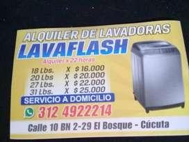 ALQUILER DE LAVADORAS A DOMICILIO