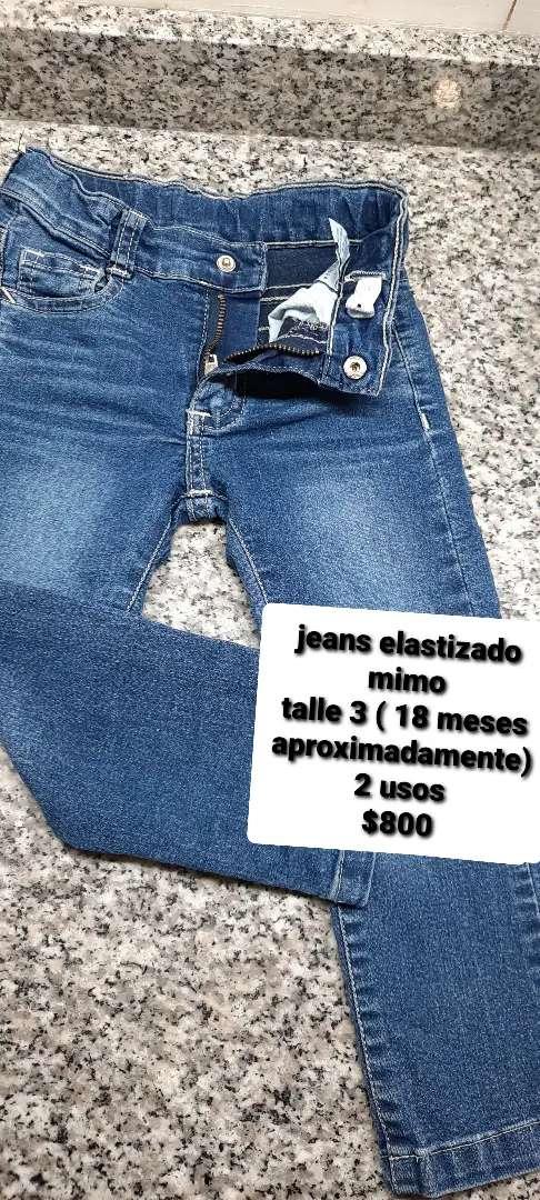 Jeans beba elastizado mimo talle 3 (1 a 2 años)