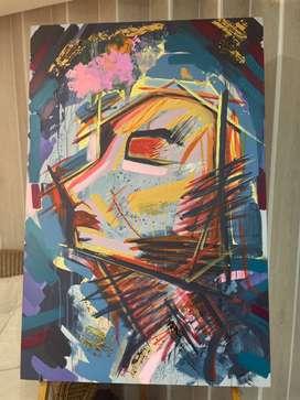 Pintura en lienzo arte abstracto- Atenea