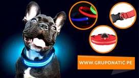 Collar Con Luces Led Para Perros Mascotas Gruponatic San Miguel