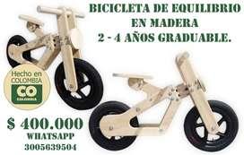 bicicleta de equilibrio en madera
