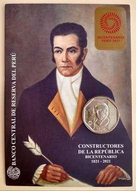 Blister Peru 2020 Bicentenario , Juan Pablo Viscardo y Guzman