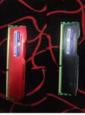 RAM de 8 y 4 gb