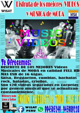 Videos musicales en calidad full HD