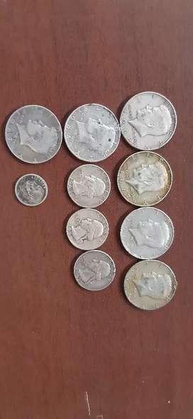 Monedas de USA años 60