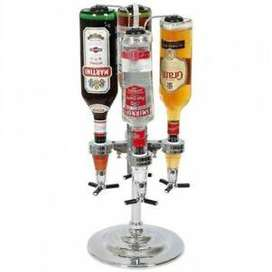 Dispensador Carrusel X 4 botellas en acero inoxidable