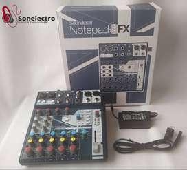 Mixer con interface 2 canales