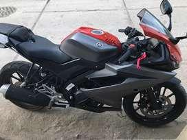 Moto yamaha r15 2020 colo rojo con plomo nungun detalle