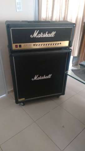Vendo Cabezal y caja Marshall 100Watts 4X12 Ingles