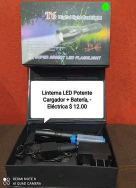 Linterna eléctrica cargable