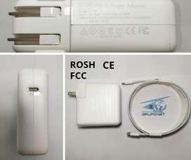 Cargador Macbook Tipo C Certificado 87w 20.2v-4.3a 9v-3a 5.2v-2.4a Nuevo