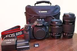 Cámara Canon EOS 60d Accesorios + Dos lentes