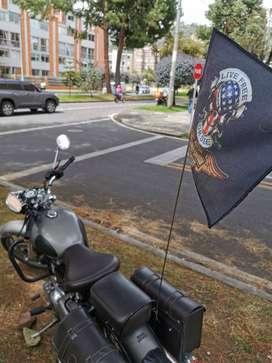Banderines con asta para motos, bicicletas, cuatrimotos