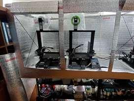 Impresoras 3D, Ender 3 Pro de Creality. Moldes para figuras de yeso y macetas para suculentas