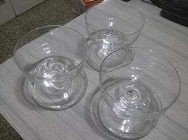 Compoteras de cristal vintage