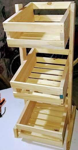 Organizador de cosina pino reforzado.